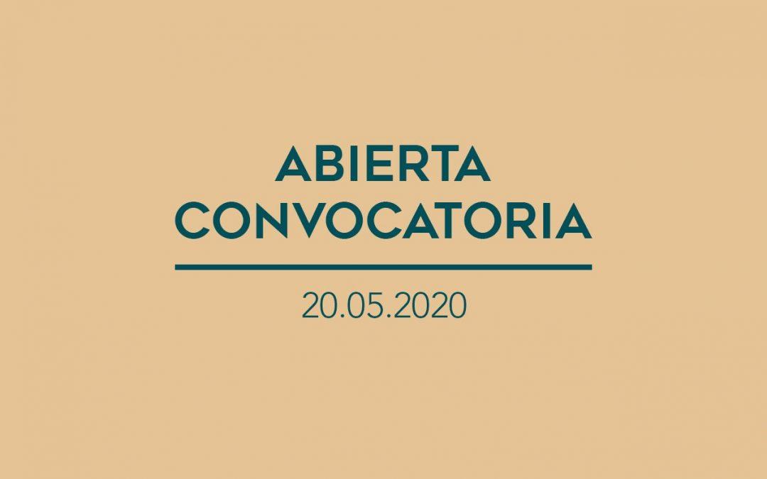 / Convocatorias Abiertas / 20.05.2020